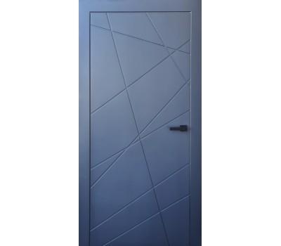 графитовые межкомнатные двери диагональ