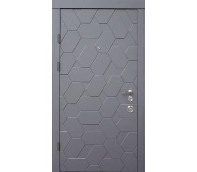 Двери Поло в сером софте белые внутри