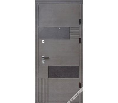 Входные двери серый венге